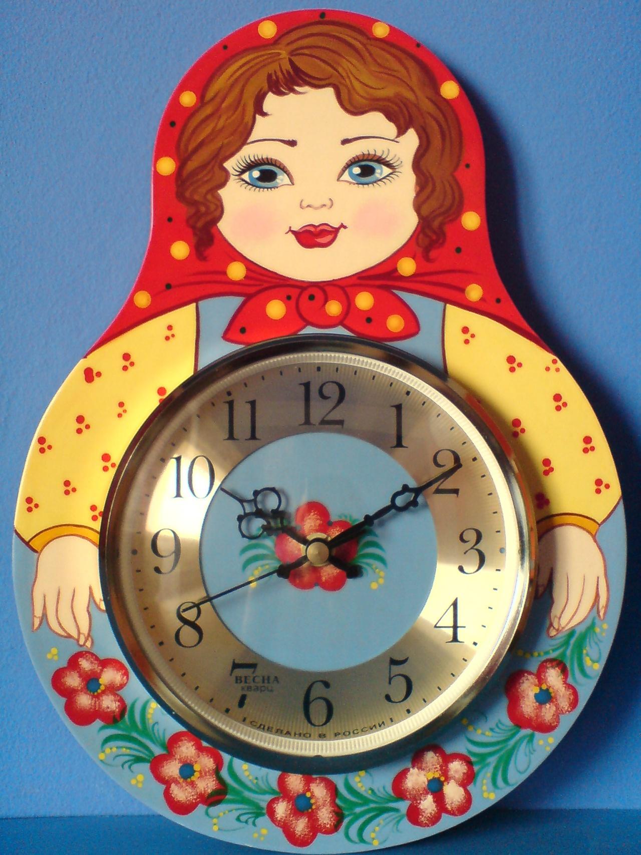 Часы из соленого теста своими руками
